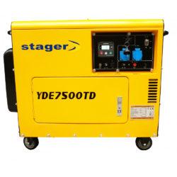 Generator curent Stager YDE7500TD insonorizat diesel monofazat